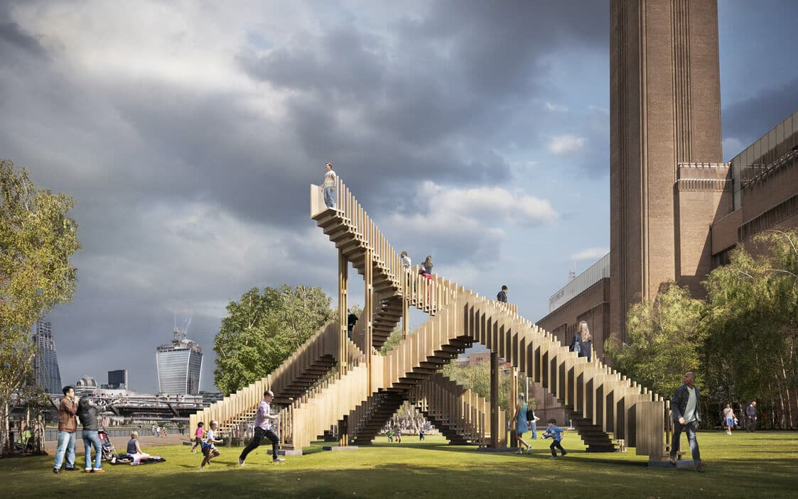 Visualisation of Endless Stair at Tate Modern