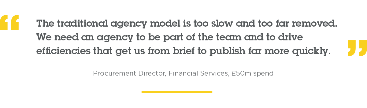 The traditional agency model is too slow.