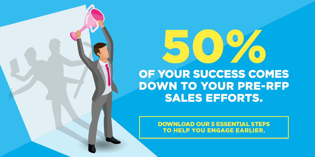 50 percent of your success comes down to pre-rfp efforts